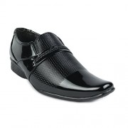 Shoe Island Designer Patent Black Slip-On Formal Shoes