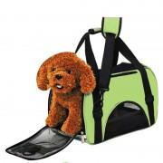 Waterdichte Draagbare huisdier handtas-schoudertas voor kat / hond en andere huisdieren klein Size:40*30*20cm(Green)