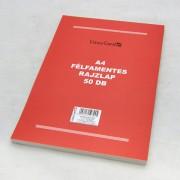 A4 félfamentes rajzlaptömb - 50 db/csomag