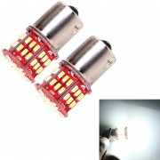 2 Pcs 5W 5000K Blanco Luz 54 LED SMD 3014 CANBUS Coche Luz De Freno Tail Light Bulb, DC 12V