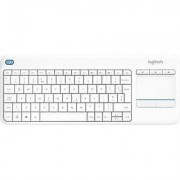 Logitech Wireless K400 Plus Wireless keyboard White Built-in touchp...