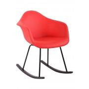CLP Silla Mecedora Merry Tapizada en Cuero Sintético , rojo rojo, altura del asiento
