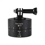 JUNXI Camera 360 Grados de rotación automática 60 Minutos lapso de Tiempo estabilizador Adaptador de Cabeza de trípode for GoPro (Negro) de Alta Calidad (Color : Black)