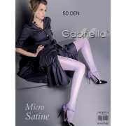 Gabriella - Opaque wet look tights Micro Satin 50 den