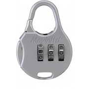 Maxed 3 Dial Resettable Number Combination Safety Lock(Silver)