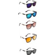 Ultra Digits Wayfarer Sunglasses(Violet, Blue, Brown, Orange, Black)