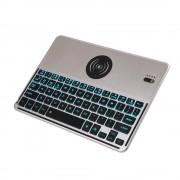 Tastatura portabila cu incarcator Qi pentru tablete si smartphone