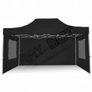 ray bot Gazebo pieghevole 3x4,5 nero gambo 40x40 con finestre. PVC 350g