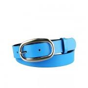 Dámský modrý kožený opasek 295