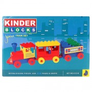 Peacock Kinder Blocks Junior Train Set Safe and Non Toxic Toys of Childrans