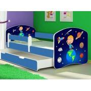 Patut Tineret MyKids Solar System cu Sertar si Saltea 160x80
