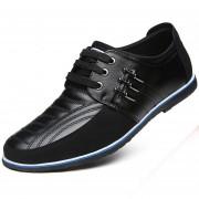 Zapatos Para Hombre Negocio Y Ecocuero Mezclado Con Cordón - Negro