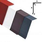vidaXL Странични ръбове за покрив 5 бр алуминий червени 170 см