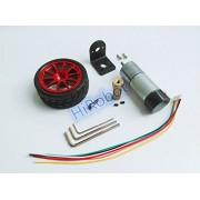 Generic Silver 12V 330rpm : High Torque DC Motor+65mm Plastic wheel+Coupling+Motor bracket, ONE Set of Car Parts, For DIY smart Car, Robot, Free shipping