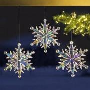 Regenboog-ijskristal, set van 3
