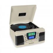 Ricatech RMC100 Stereo con giradischi CD USB SD crema