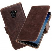 BestCases - Samsung Galaxy A8 Plus 2018 Pull-Up booktype hoesje mocca