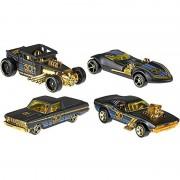 Mattel modellino auto hot wheels 50esimo anniversario nero & oro scala 1:64 , frn33 assortiti (no scelta)