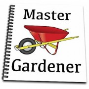 3dRose db_123089_1 Master Gardener Gardening Wheelbarrow Drawing Book 8 by 8-Inch