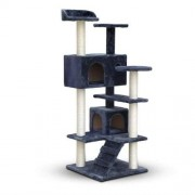 Cat Scratching Post Tree House Condo 134cm - Grey