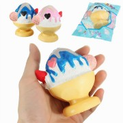 SanQi Elan Squishy Ice Cream Snow Cone Sorbet Smoothie Slow Rising With Packaging Collection Gift