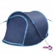 vidaXL Kamperski pop-up šator za 2 osobe mornarsko plavi / svjetloplavi
