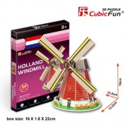 Cubicfun 3D Puzzle - Holland Windmill, Multi Color