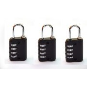 MARK LOUIS 4 Combination Luggage Lock Pack of 3 Safety Lock(Black)