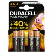 Pile Duracell Plus - stilo - AA - 1,5 V - MN1500B4 (conf.4) - 283929 - Duracell