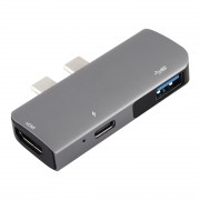 Double Type-C to PD+USB3.0+HDMI Multi-functional USB Hub Docking Station