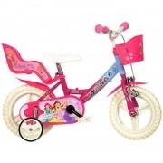 Dino Bikes Bicicleta Dino Bikes Princess 12 pulgadas Niñas Rosa y Blanco