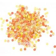 Pailletten, gelb-orange, 6 mm Ø, 30 g