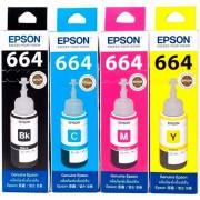 Kit 4 Botellas Tinta EPSON T664 Color L310 L380 L375 L395 L575 L1300