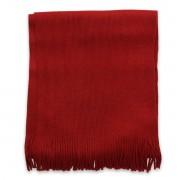 Eșarfă bărbătească în culoarea roșu, cu franjuri 9970