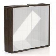 Rauman Lineart Rauman Vysoká skříň 211,2 x 50 x 187,6 cm jilm tmavý / bílá