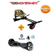"Monster Hoverkart and 6.5"" Bluetooth Hoverboard Hip Hop Go Monster Bundle"
