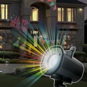 LED Party fényjáték, cserélhető mintákkal, karácsony, halloween