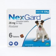 NexGard Chews For Small Dogs 10.1-24lbs (4-10kg), 6 Pack