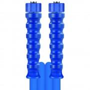 R+M de Wit 5m HD-Schlauch 2SN, DN08, blau, M22 Überwurf auf M22 Überwurf, max. 150°C, ma