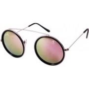 Foxy Round Sunglasses(Golden)
