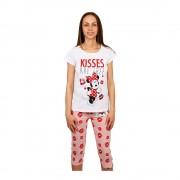 Minnie Mouse Kisses are Free fehér rózsaszínnel női pizsama