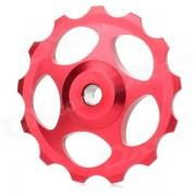 bh-01 Bicicleta de aleacion de aluminio Desviador trasero Guia Rueda de polea-Rojo