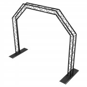 lightmaXX ALU-STAGE MOBILE TRUSS GATE Black, 2,4mx2,9m, Ø35mm, TÜV