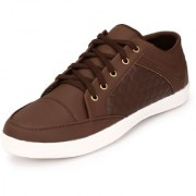 Knoos Men Brown Lace-Up Casual Shoes