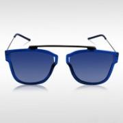 Knotyy Retro Square Sunglasses(Blue)