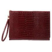 Universele Tablet Wallet Hoesje - Crocodile - Rood