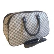 Nagyméretű mintás bőrönd Alda