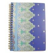 Carolina Pad Studio C College Ruled Foil Cover Spiral Notebook ~ Taj Mahal (Blue, Green and More; 5' x 7'; 80...