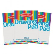 Melissa and Doug Drawing Paper Pad Bundle, Multi Color (Pack of 3)