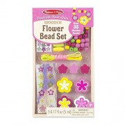 Melissa & Doug Decorate-Your-Own Wooden Flower Bead Jewellery-Making Craft Kit